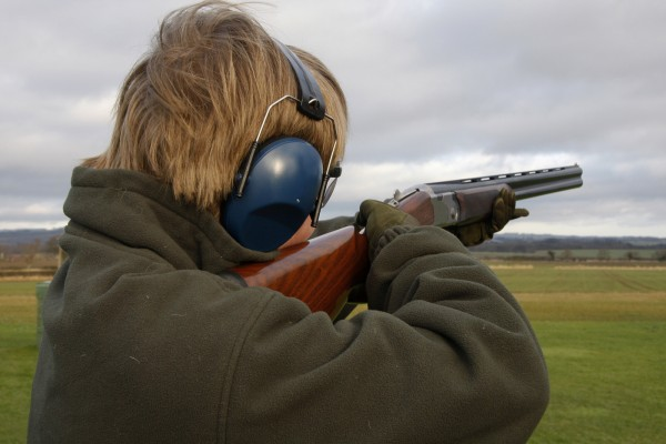 Clay pigeon shooting cork